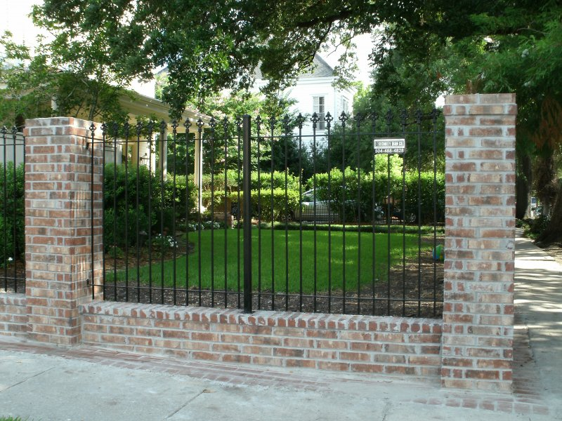 wrought iron fence brick. Custom 1/2\ Wrought Iron Fence Brick E