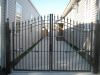 10' wide Arched Plantation gate w operators