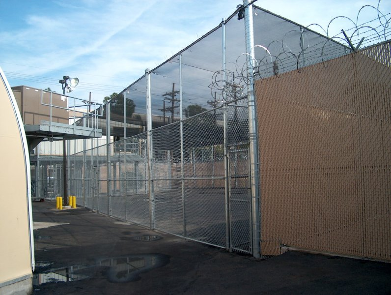 10' Chain link with 18' Netting