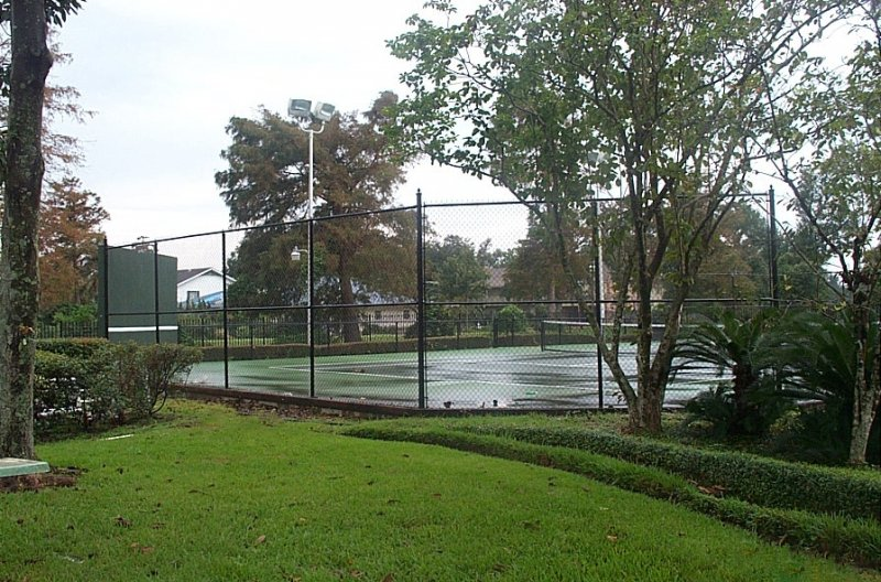 Tennis Court with Black Vinyl Chain link