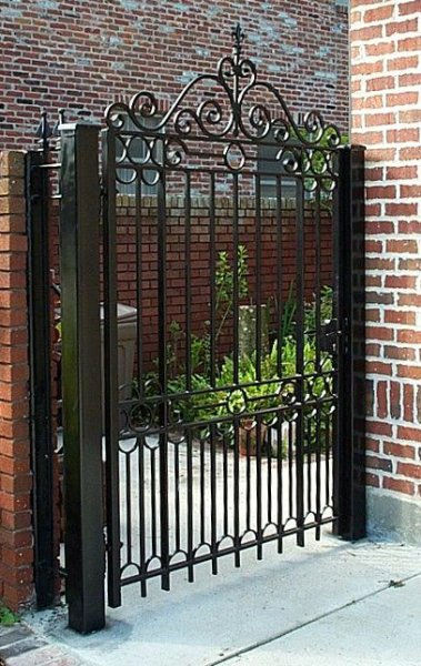 Custom walk gate w Locinox gate lock